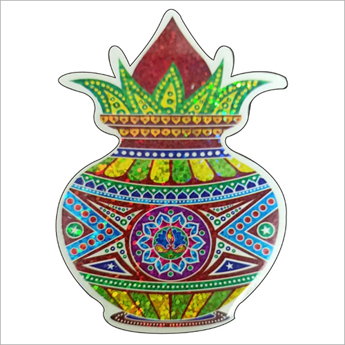 Multicolor Kalash Paper Sticker