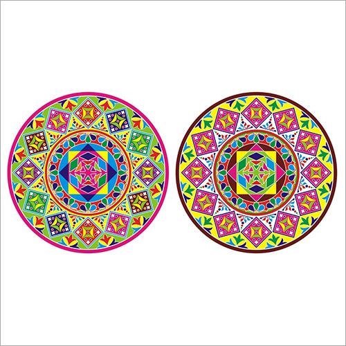 Diwali Rangoli Decorative Floor Sticker