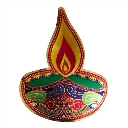 Diwali Diya Paper Sticker
