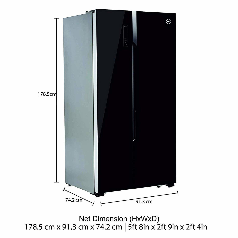 BPL 690 L Frost Free Side-by-Side Refrigerator(R690S2, Black)