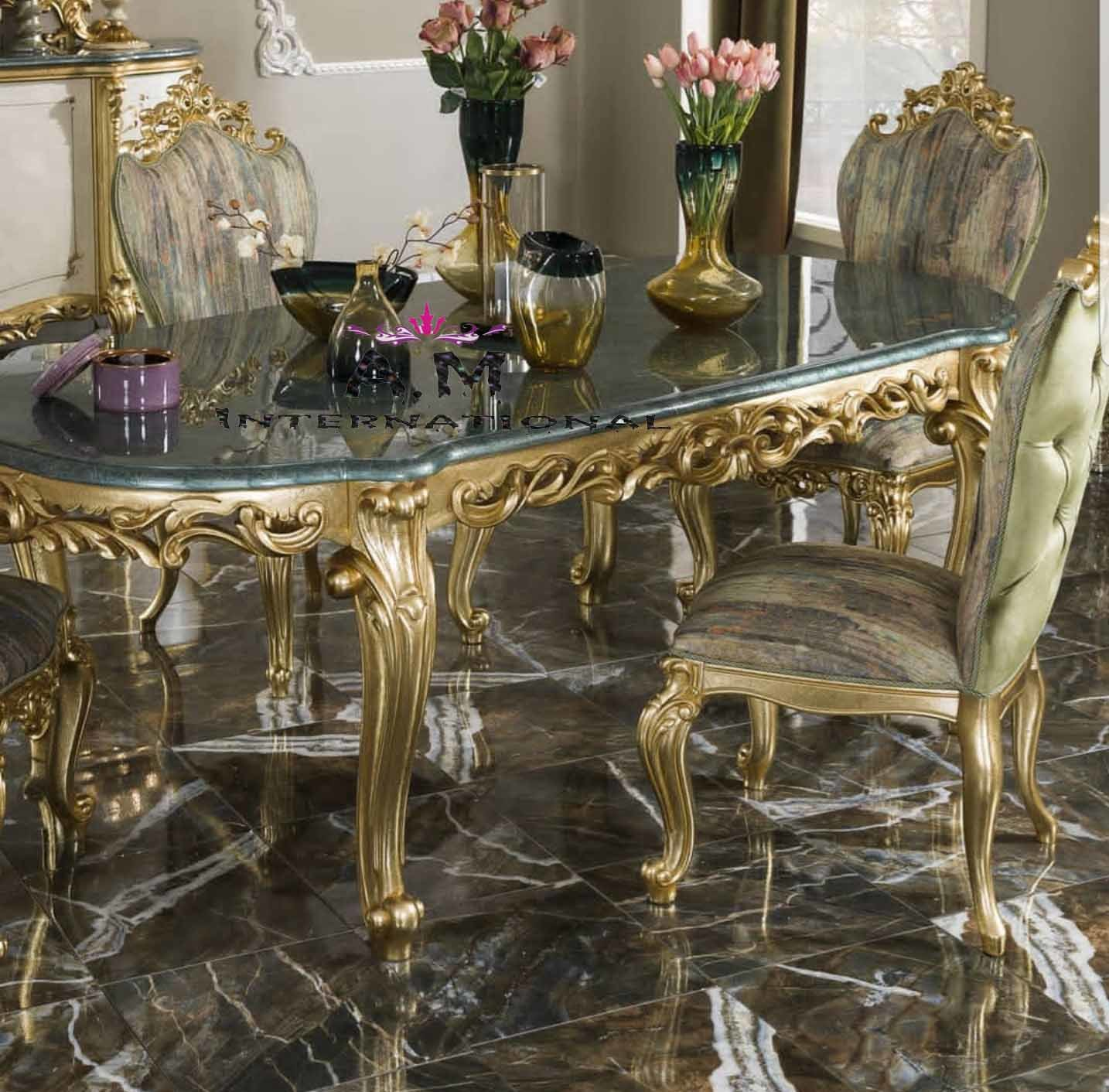 oval design dining table set