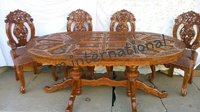 indian handcrafted dining table set