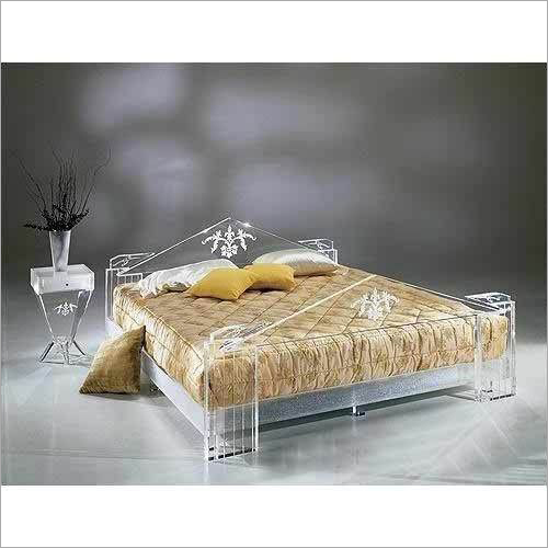 Transparent Acrylic Double Bed