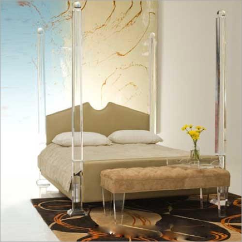 Designer Acrylic Double Bed