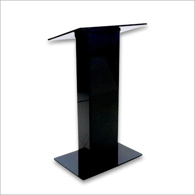 Black Acrylic Podium