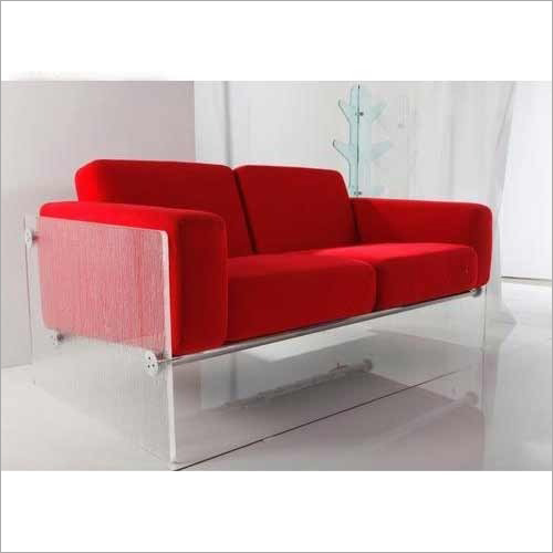 Two Seater Acrylic Sofa