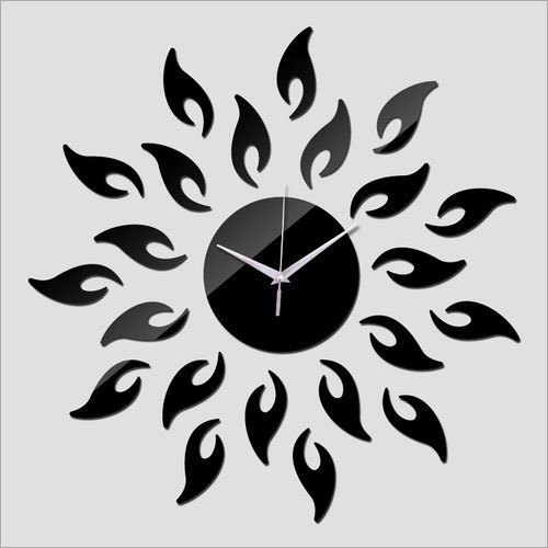 Black Acrylic Wall Clock