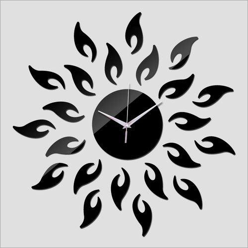 Black Acrylic Wall Clock