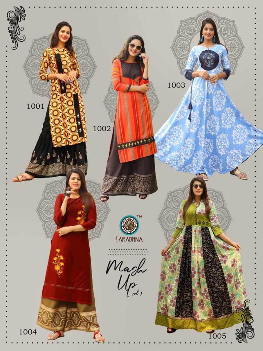 Rayon Embroidery Wholesale Kurti