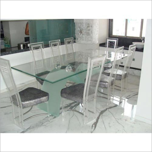 8 Seater Acrylic Dining Table Set