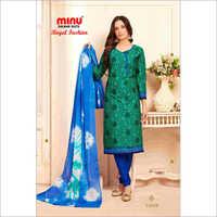 Green Minu Cotton Printed Salwar Suit