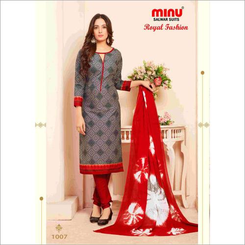 Grey Minu Cotton Printed Salwar Suit