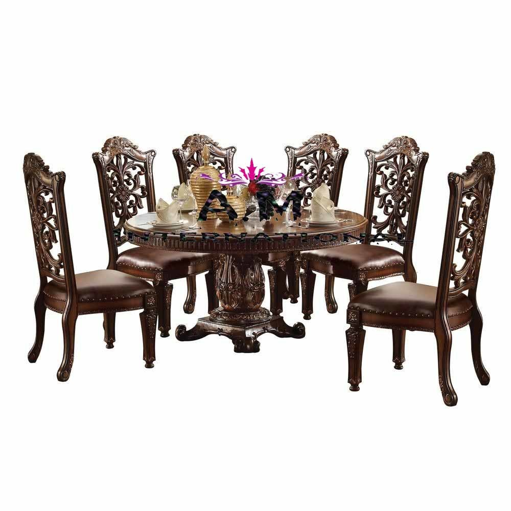 luxurious 6 seater dining table set
