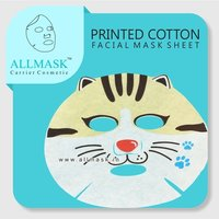 Cotton Cat Printed Facial Mask Sheet - 100% Original - ODM/OEM Customization Available