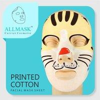 Cotton Cat Printed Facial Mask Sheet - 100% Original - ODM/OEM Customization Available
