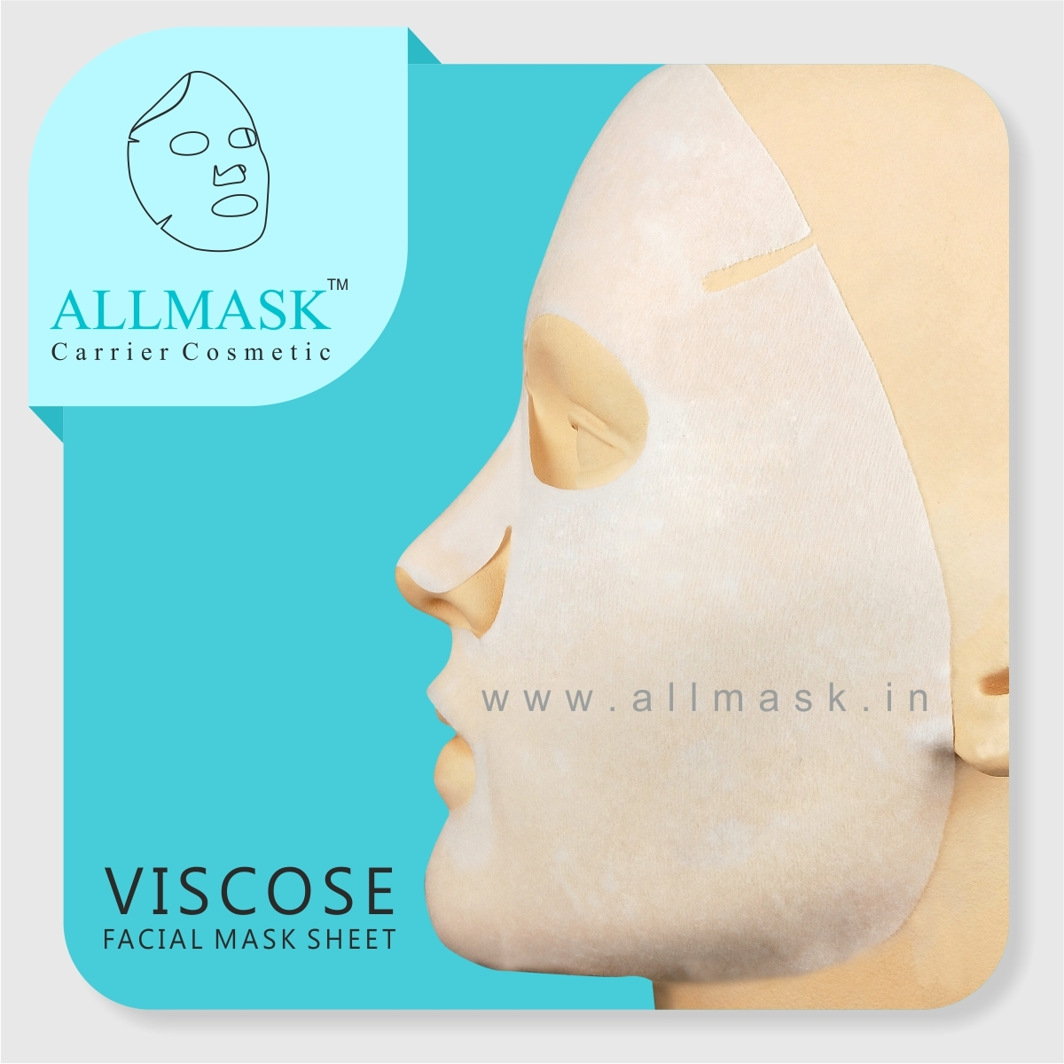 Viscose/Cellulose Facial Mask Sheet - 100% Original - ODM/OEM Customization Available