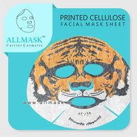 Viscose/Cellulose Tiger Printed Facial Mask Sheet - 100% Original - ODM/OEM Customization Available