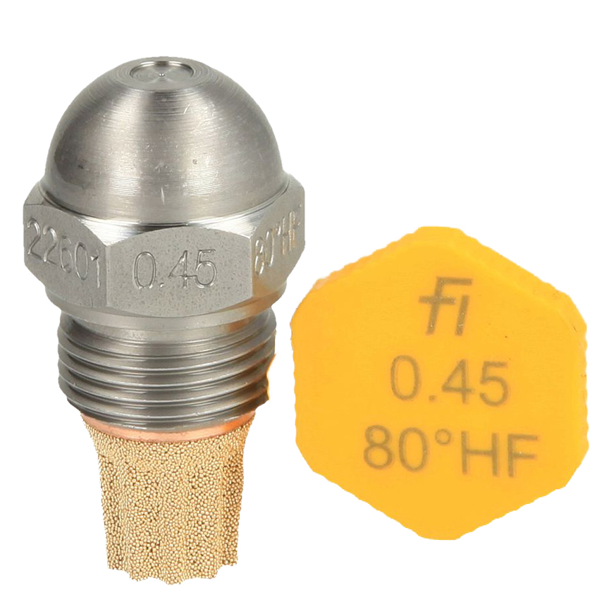 Fluidics Burner Nozzle 80 Degree HF
