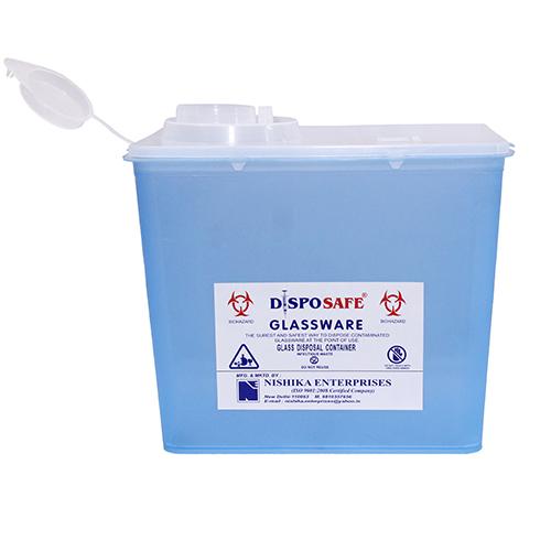 5 ltr Blue Glassware Sharp Container