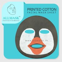 Cotton Penguin Printed Facial Mask Sheet - 100% Original - ODM/OEM Customization Available