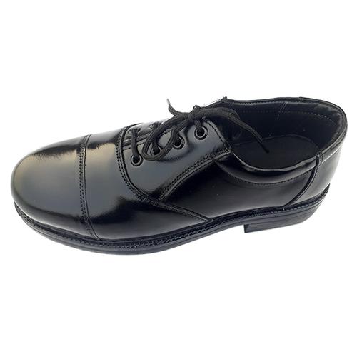 Plain Leather Uniform Shoes