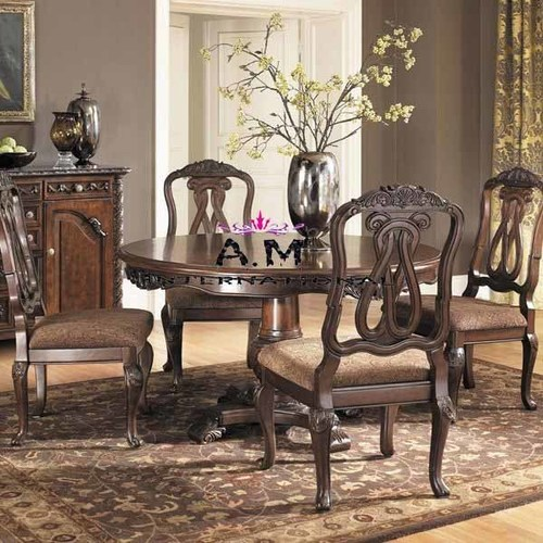 wooden handcrafted 4 seater dining table set