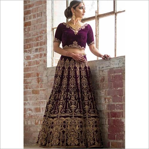 Designer Bridal Heavy Velvet Lehenga Choli Set
