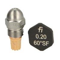 Fluidics Burner Nozzle 60 Degree Sf