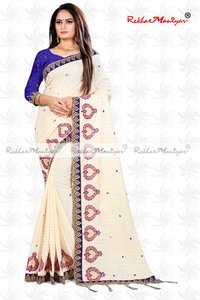 Sana Silk Embroidery Mirror Work Designer Saree