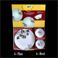 6 Plate And 6 Bowl Set