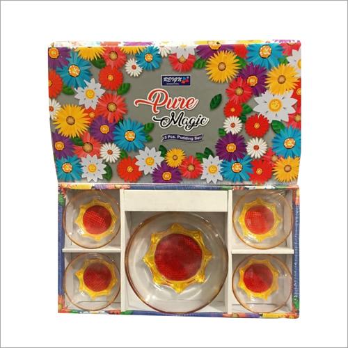 5 Pcs Glass Pudding Set