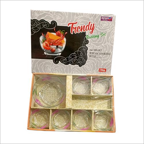 7 Pcs Trendy Pudding Bowl Set