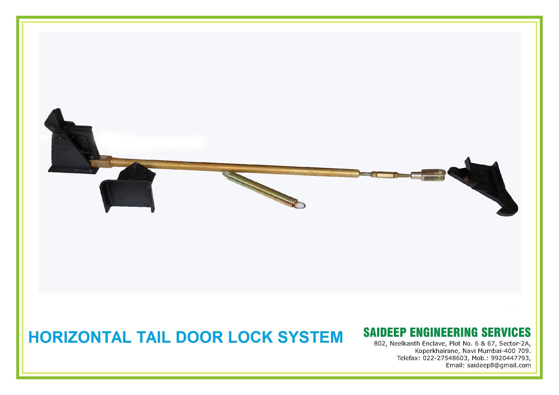 Tipper Tail Door Locking System - Horizontzl Hook
