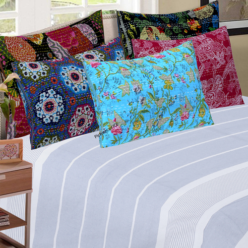Decorative Kantha Cushion Cover