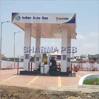 Indian Auto Gas canopy