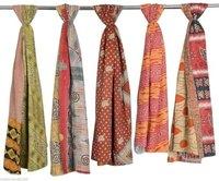 Vintage Cotton Kantha Work Scarves