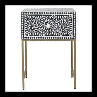 BONE INLAY SIDE TABLE