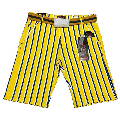 Mens Casual Striped Shorts