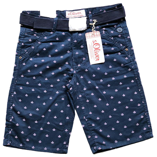 Mens Blue Cotton Short