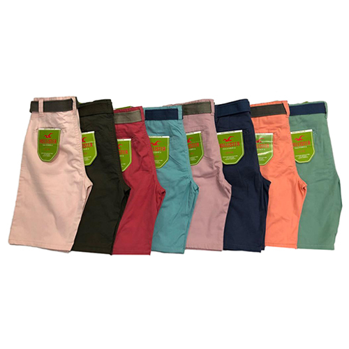 Mens Plain Multi Colour Shorts