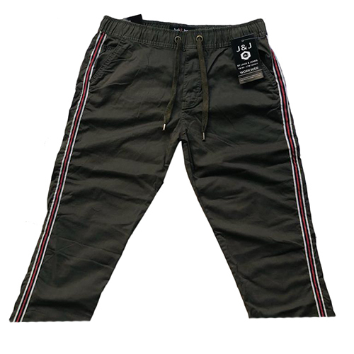 Mens Black Non Fold Stretch Jogger