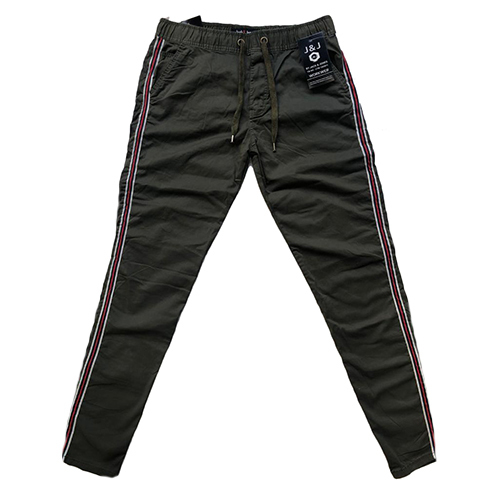 Mens Plane Non Fold Stretch Jogger