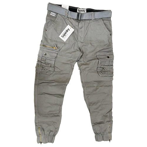 Mens Plain Stretch Cargo