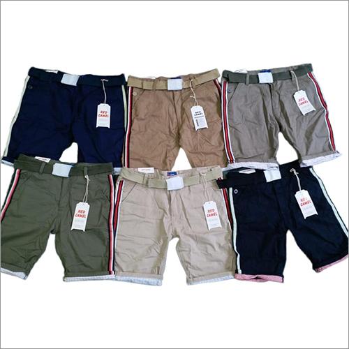 Mens Stylish Plain Cotton Shorts