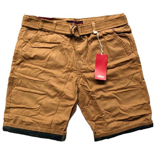 Mens Brown Cotton Shorts