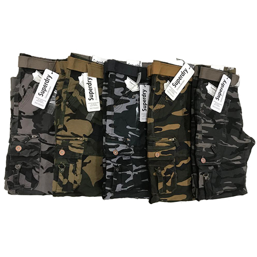 Mens Camouflage Cargo