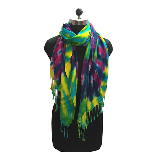 Ladies Colourful Tie and Dye Stole
