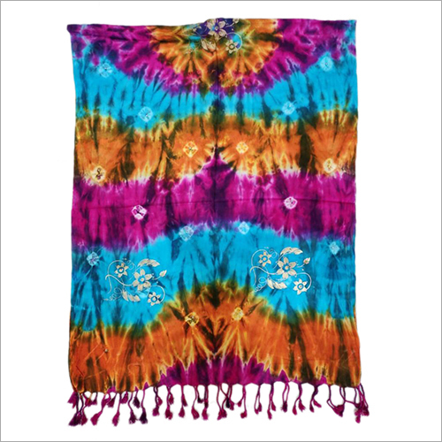 Viscose Rayon Tie And Dye Stole
