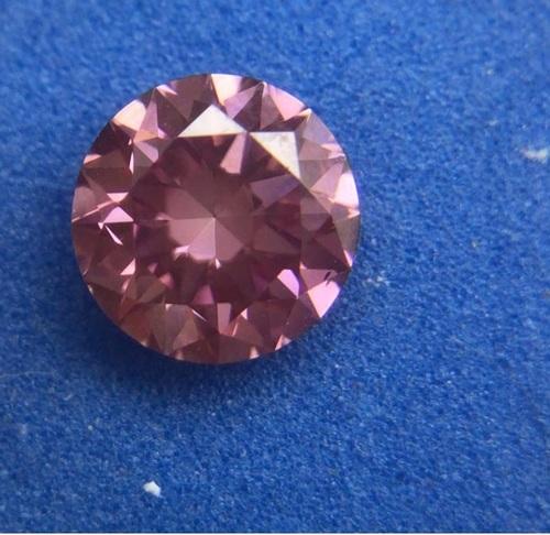PINK Diamond 0.51ct Fancy Intense PINK VS2 Round Brilliant Cut IGI Certified