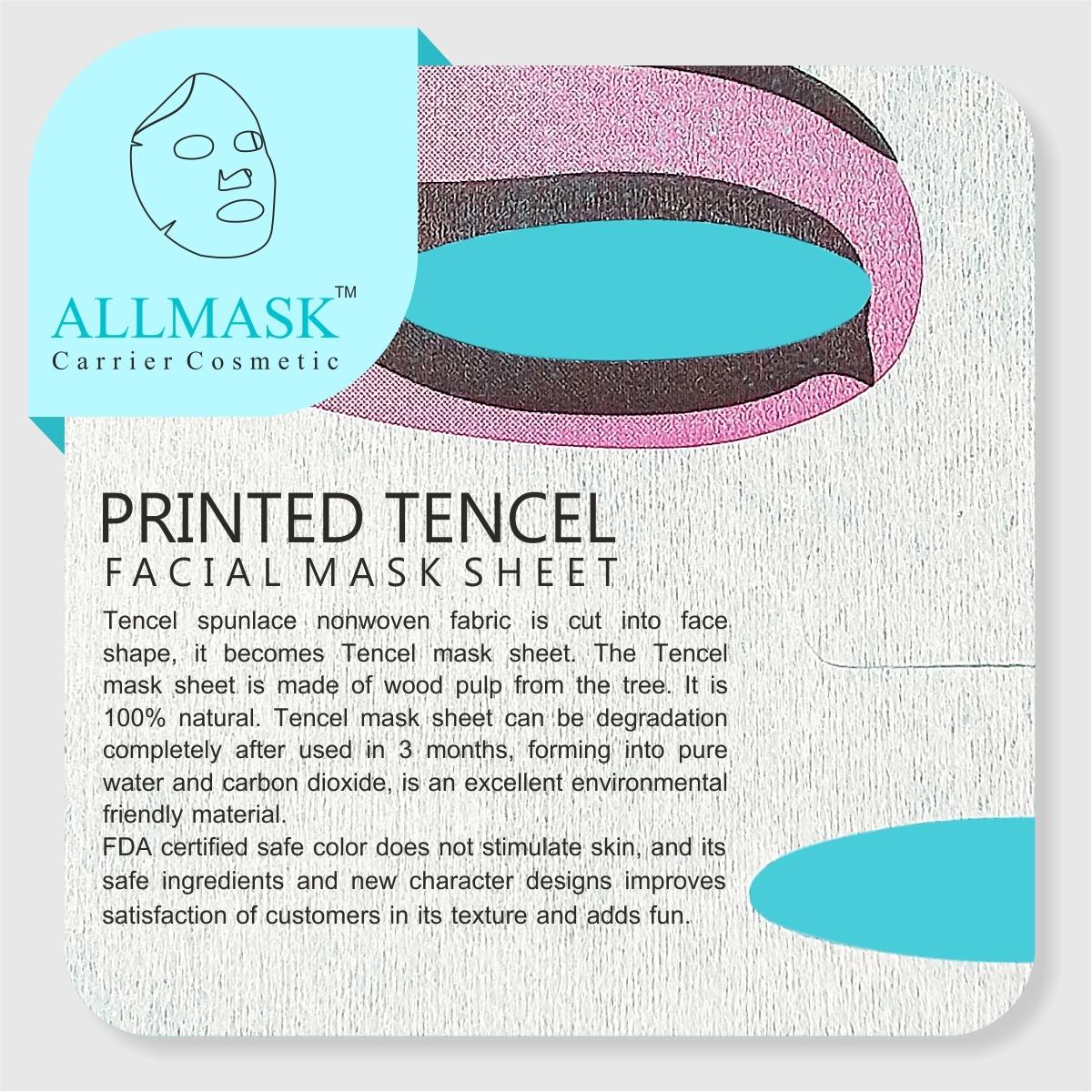 Tencel/Invisible Eye Printed Facial Mask Sheet - 100% Original - ODM/OEM Customization Available